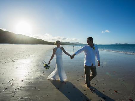 Kerri and Raymonds Winter Wedding on Whitehaven Beach.