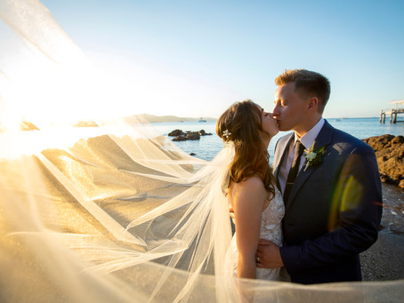 Jayda and Mat Tie The Knot At Coral Sea Marina Resort