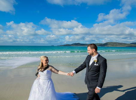 Tammara and Orion's Whitehaven Beach Wedding
