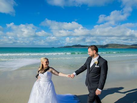 Tammara and Orion's Whitehaven Beach Wedding
