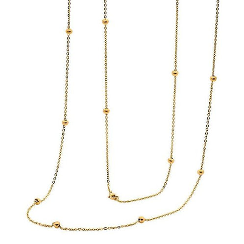 Thin Gold Chain Necklace - SN111G