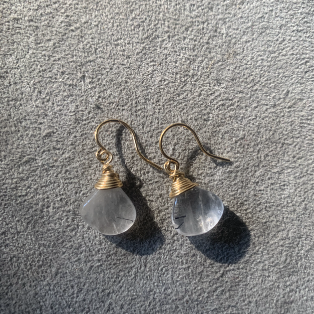 Rutilated Quartz earrings | $30
