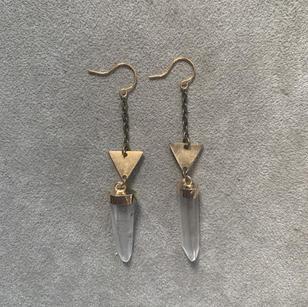 Brass & Lemurian Quartz | $28