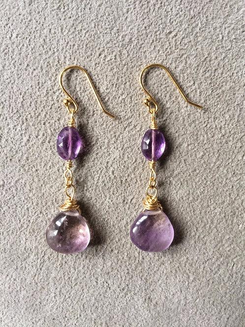 golden ametrine earrings