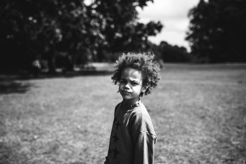Portrait of a child at a National Trust Park
