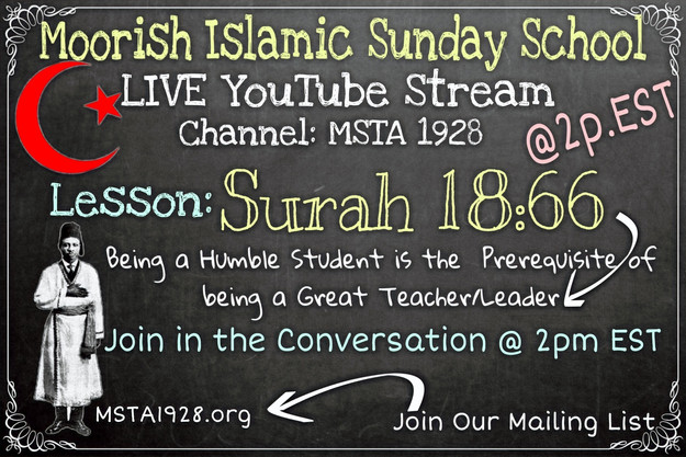 Moorish Islamic Sunday School @ 2p EST