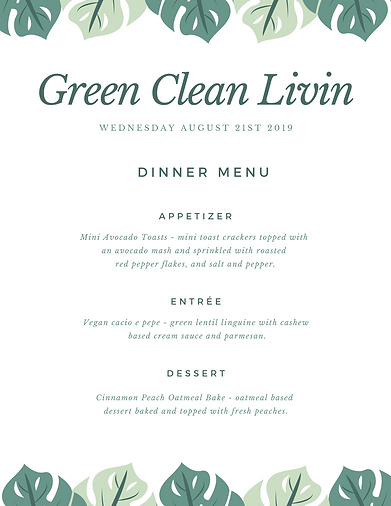Green Clean Livin Summer 2019 Dinner Men