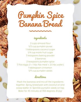 Pumpkin Spice Banana Bread Canva Recipe.