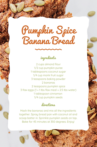 Pumpkin Spice Banana Bread Canva Recipe.