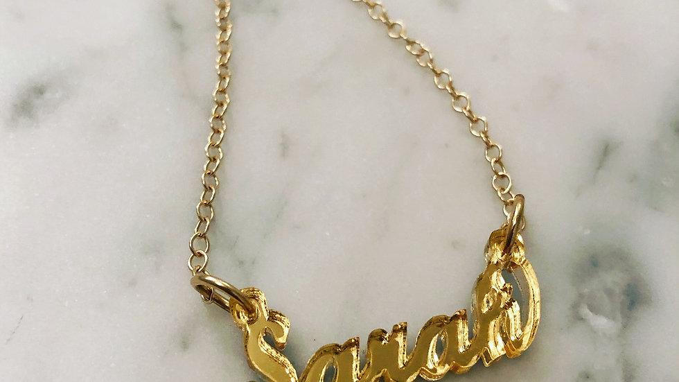 Custom Acrylic Nameplate Necklace