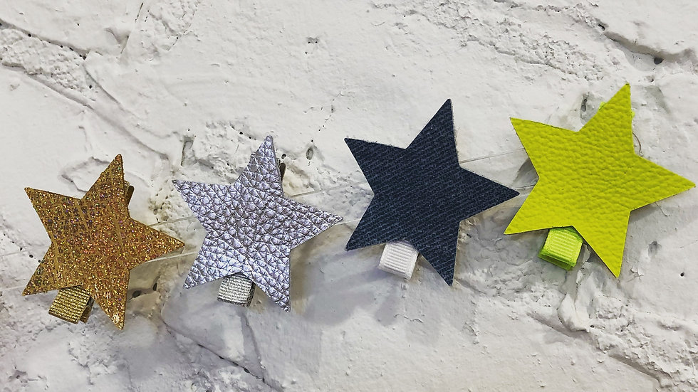 Leather Star Clips