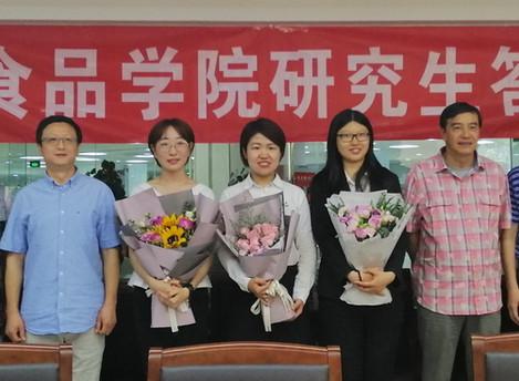Congratulations to Dandan, Wenjun and Yating for the successful defense!