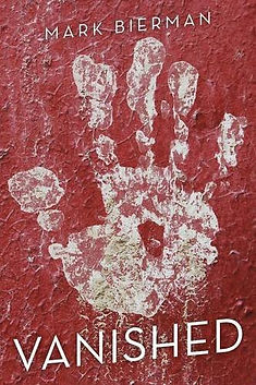 Book cover for Vanished. The hand represents the child that has been taken by human trafickers.