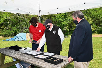 Gov. Larry Hogan Visits Historic St. Mary City to Unveil Historic 1600s Artifacts