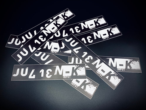 THREE (3) JKHD Logo Stickers—Free WORLDWIDE Shipping!
