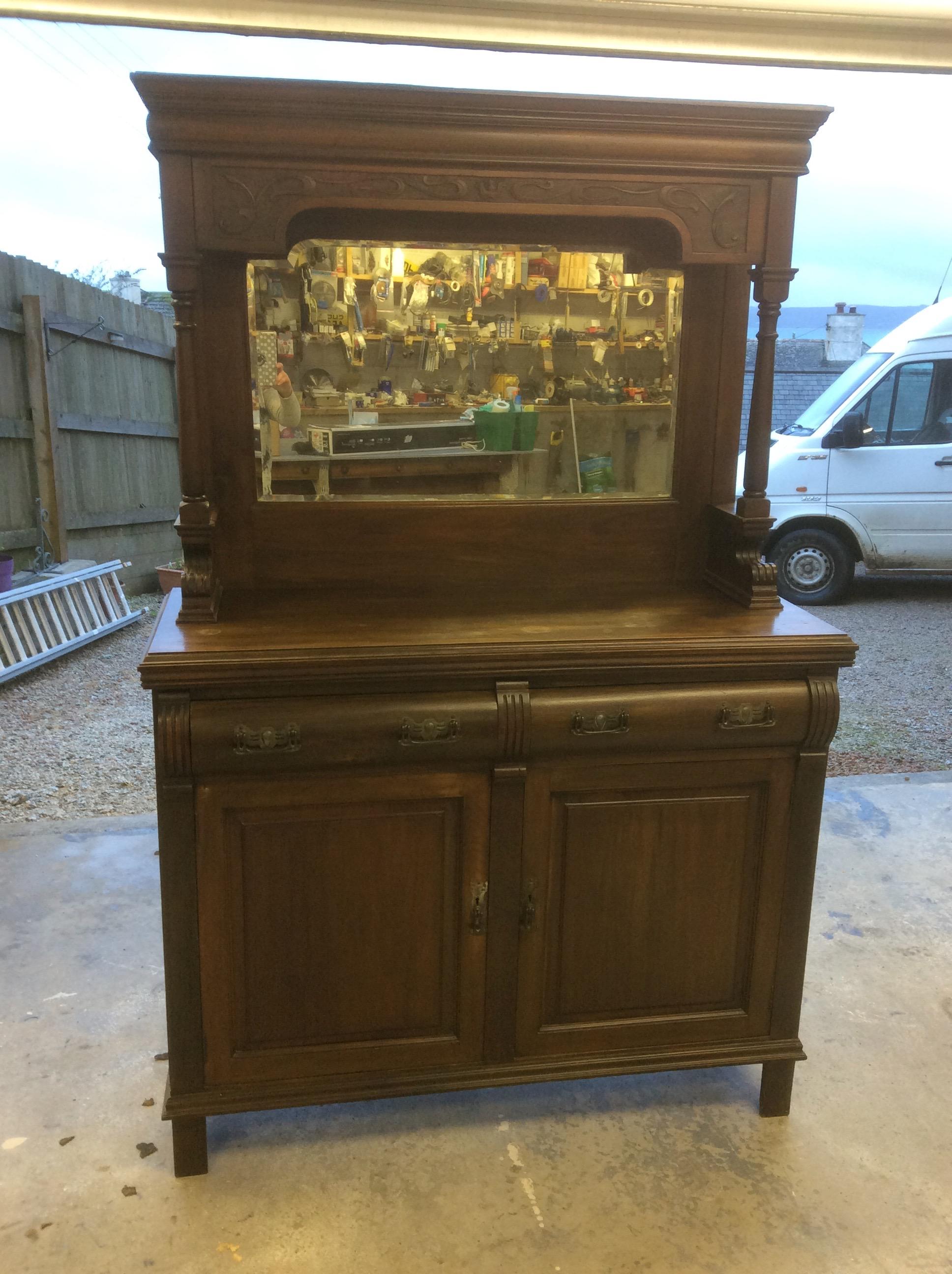 Barrel Drawer Mahogany Dresser