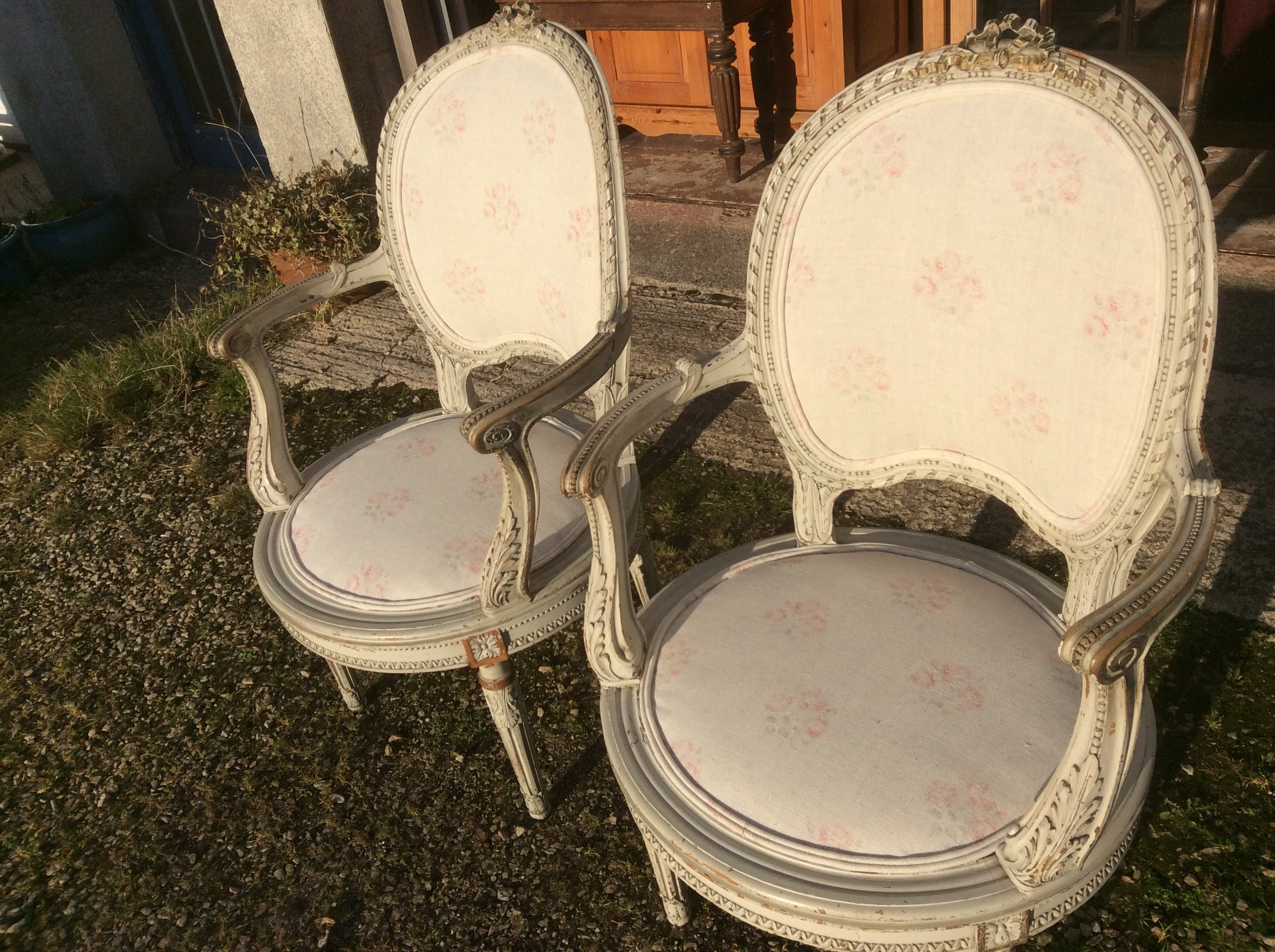 Antique Pair French Chairs