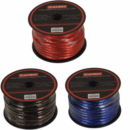 4 GAUGE CCA CAR AUDIO POWER CABLE WIRE - 50FT