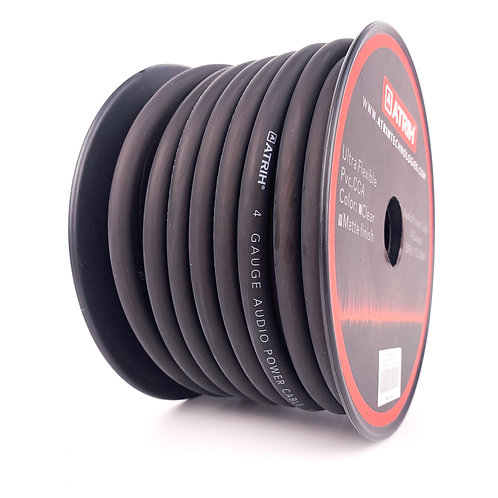 4 Gauge 50ft CCA Car Audio Power Cable Wire