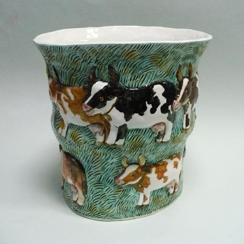 ваза Коровы на лугу