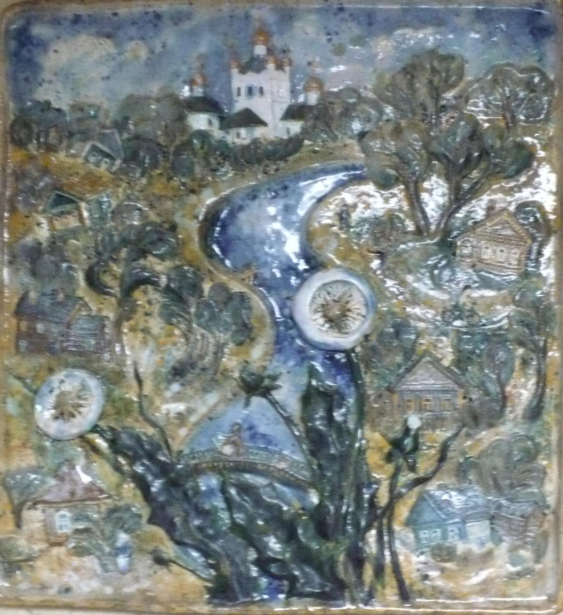Гжатский пейзаж.2000г