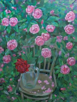 Цветочный ковёр. Розы 2020г.