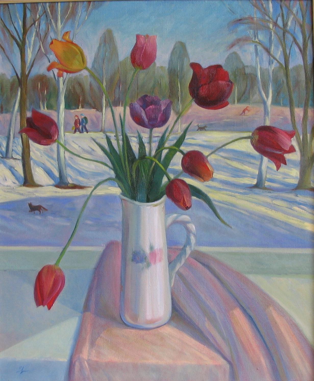 тюльпаны .март х.м. 60х50
