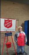Volunteering for the Christmas Salvation Amry Donation Bucket