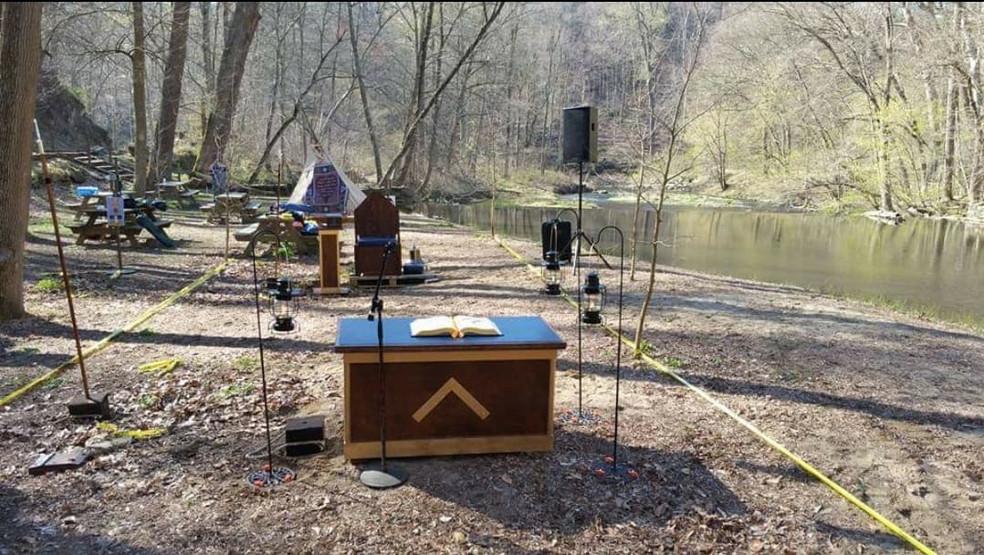 The Handmade Altar along the Creek
