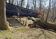 Stairs Leading Down to the Site