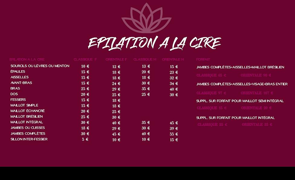 EPILATIONS CIRE classique : orientale.pn