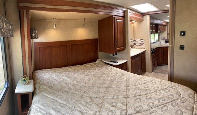 RV Rental Forest River Forester Master Bedroom