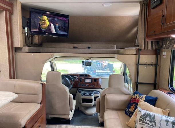 RV Rental Forest River Forester Living Room