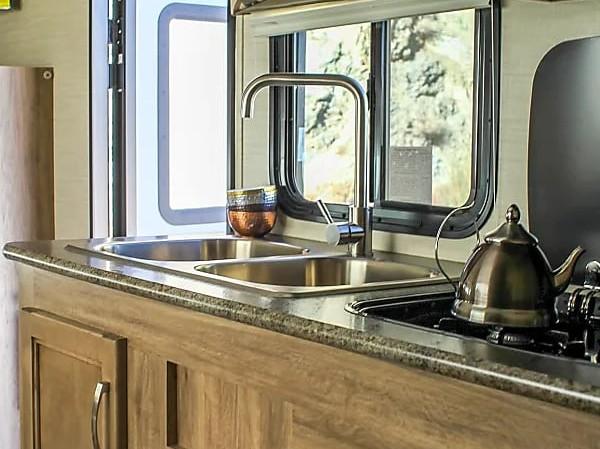 RV Rental Jayco Redhawk Kitchen