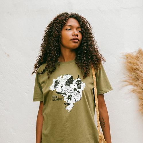 Camiseta Brasil é Quilombola por Edson Ikê