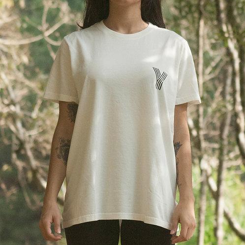 Camiseta Abundância - cor off white