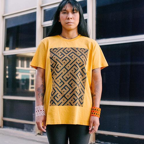 Camiseta kaiabi cor ocre