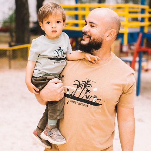 Camiseta infantil Brasil é Quilombola por Edson Ikê