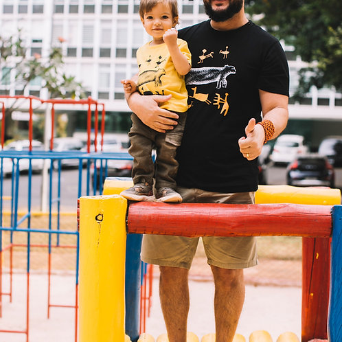 Camiseta infantil rupestre
