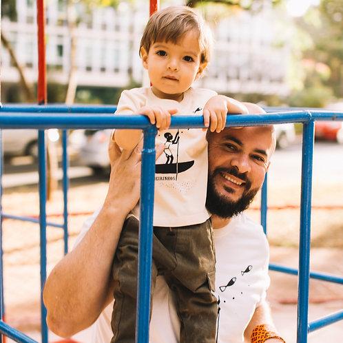 Camiseta infantil ribeirinho por Edson Ikê