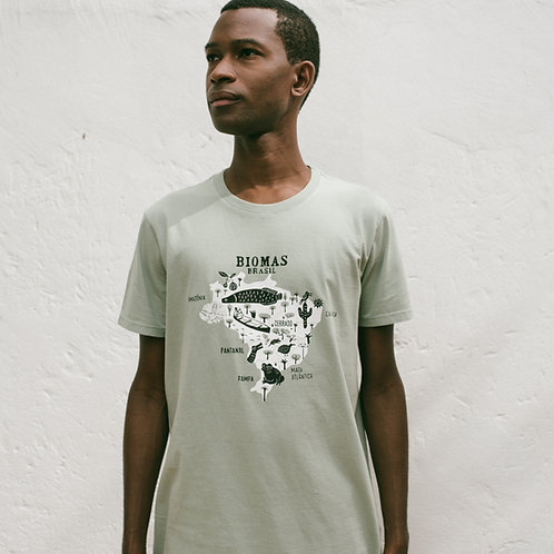 Camiseta Biomas Brasileiros por Edson Ikê