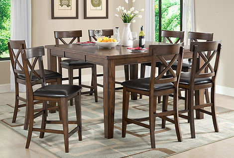 Counter H table & 8 Stools Dining.jpg