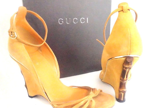 Gucci Suede Wedge Sandal