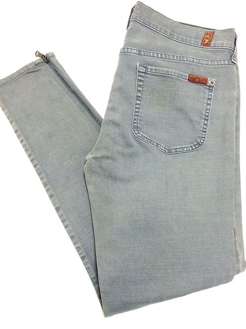 """7 for all mankind """"Gwenevere"""" Ankle zippered jeans"""