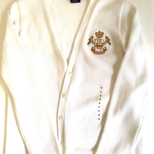 Ralph Lauren cardigan with RL crest