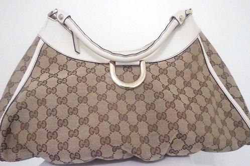 """Gucci large """"D"""" ring hobo shoulder handbag"""