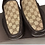 Thumbnail: GUCCI Brown Canvas Leather  Driver Moccasin Slip-On Loafer