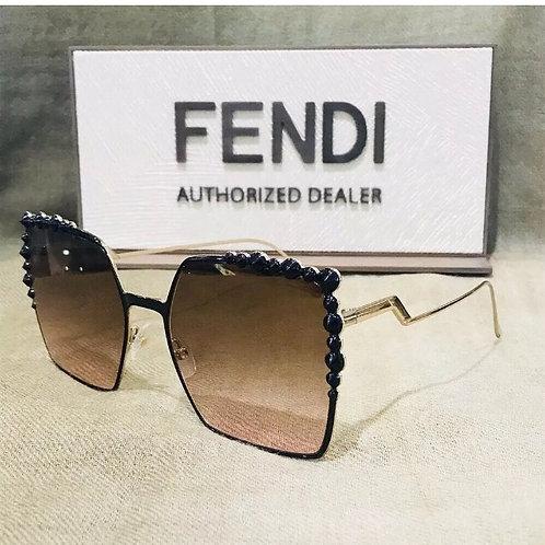 Fendi Black Gradient Sunglasses