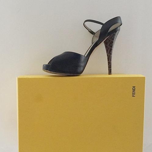 "Fendi ""Logo heeled"" Sandal"
