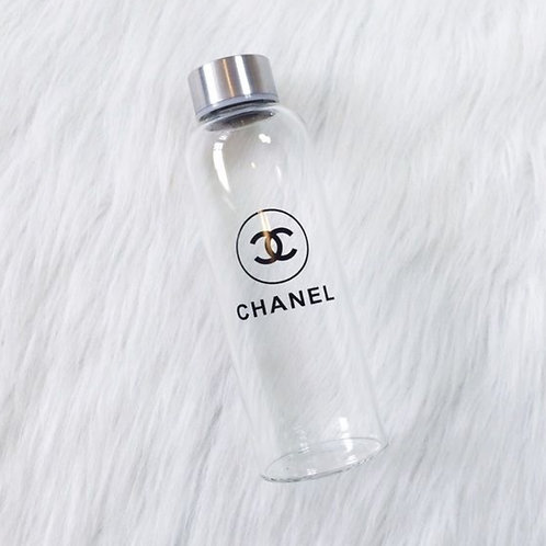 Chanel Glass Water Bottle